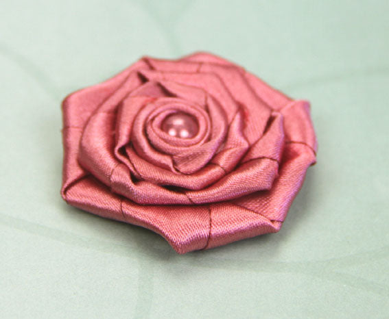 Satin Rosette - Dark Rose