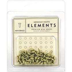 Elements Brads Mini 5mm - Vanilla