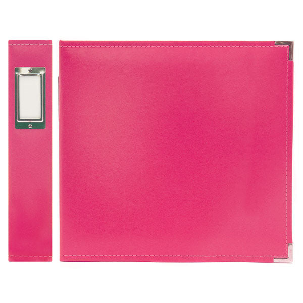 "We R Classic Leather 3-Ring Binder 12""x12"" - Strawberry"