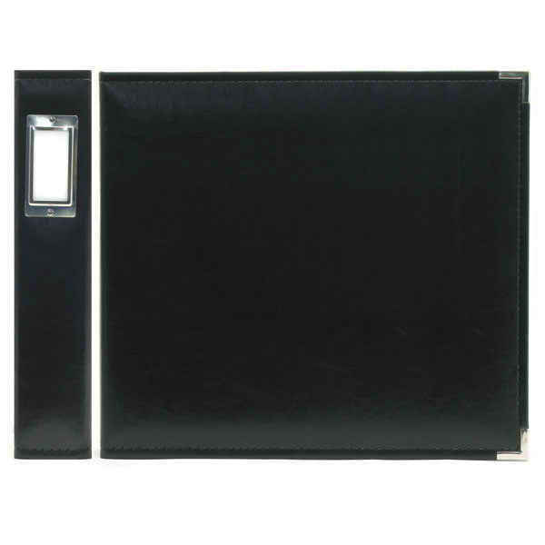 "We R Classic Leather 3-Ring Binder 12""X12"" - Black"