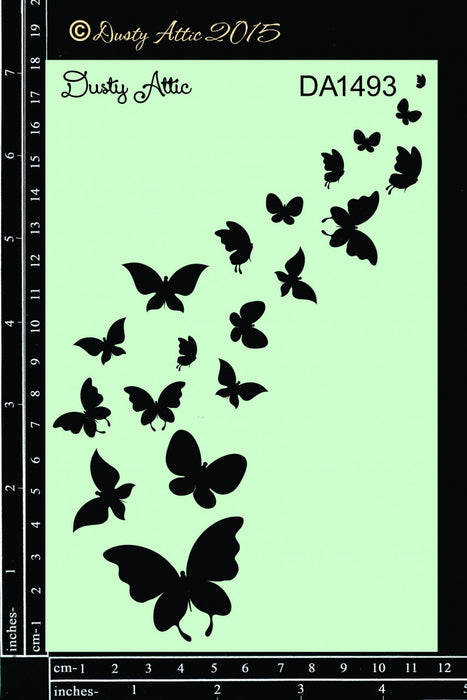 Dusty Attic Butterflight Stencil
