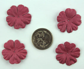 Burgundy 2.5cm Single Flower