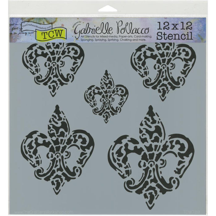 "Crafter's Workshop Template 12""X12"" - Baroque Fleurs"