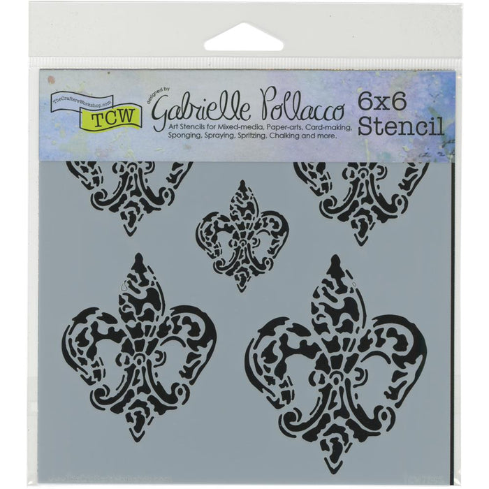 "Crafter's Workshop Template 6""X6"" - Baroque Fleurs"