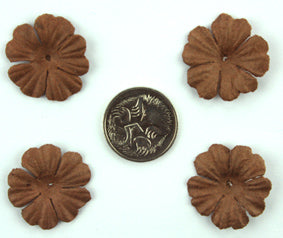 Dark Brown 2.5cm Single Flower