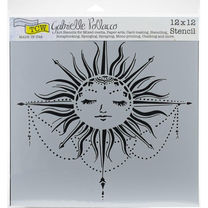 "Crafter's Workshop Template 12""X12"" - Celestial Sun"