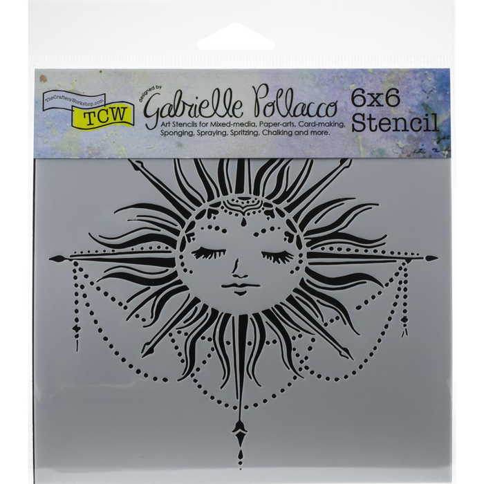 "Crafter's Workshop Template 6""X6"" - Celestial Sun"