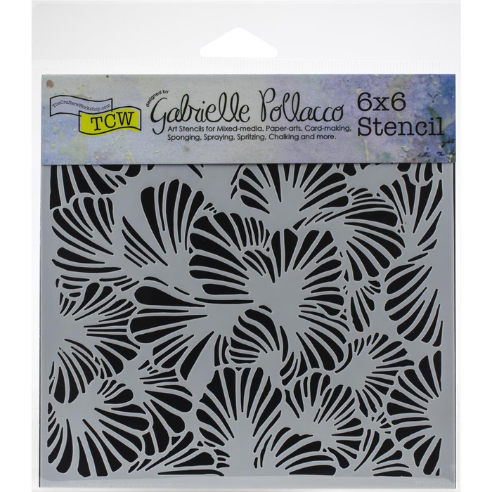 "Crafter's Workshop Template 6""X6"" - Lush Petals"