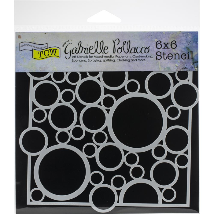 "Crafter's Workshop Template 6""X6"" - Bubble Rebound"