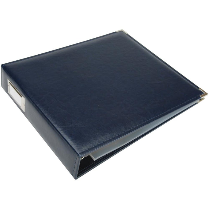 "We R Classic Leather D-Ring Album 12""X12"" - Navy"