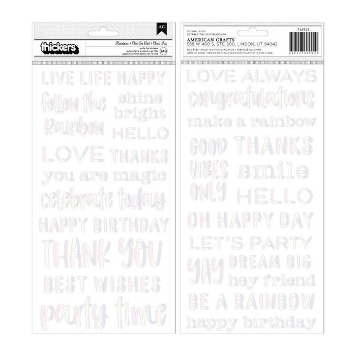 Thickers Stickers - Rainbow Phrases