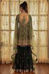 """Jade"" Chiffon Kurta And Sharara Set"