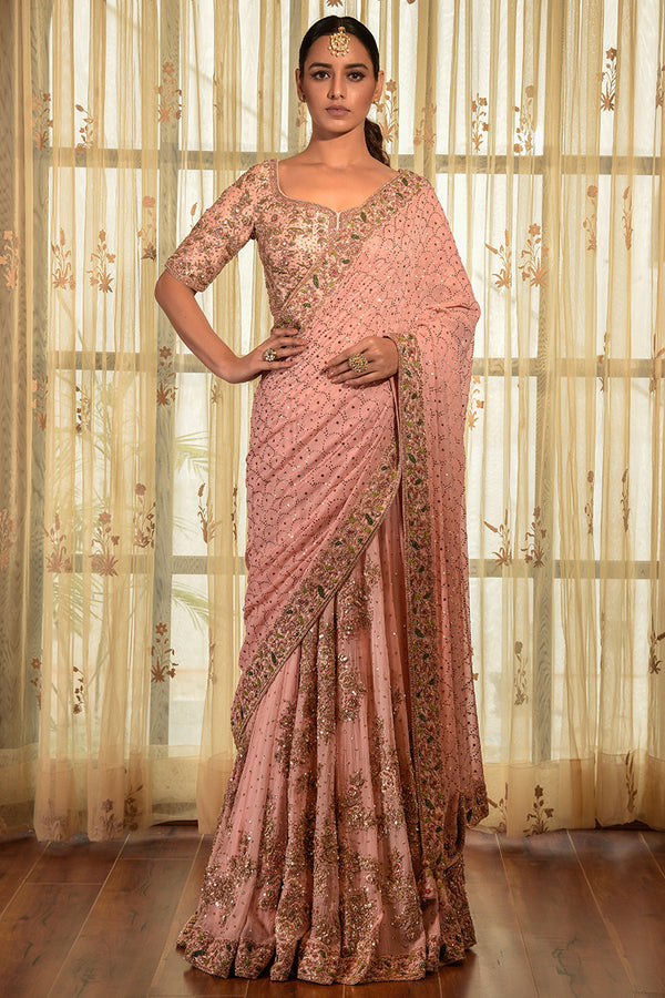"""ROSE-WELL"" KAMDAANI CHIFFON KALIDAR SAREE"