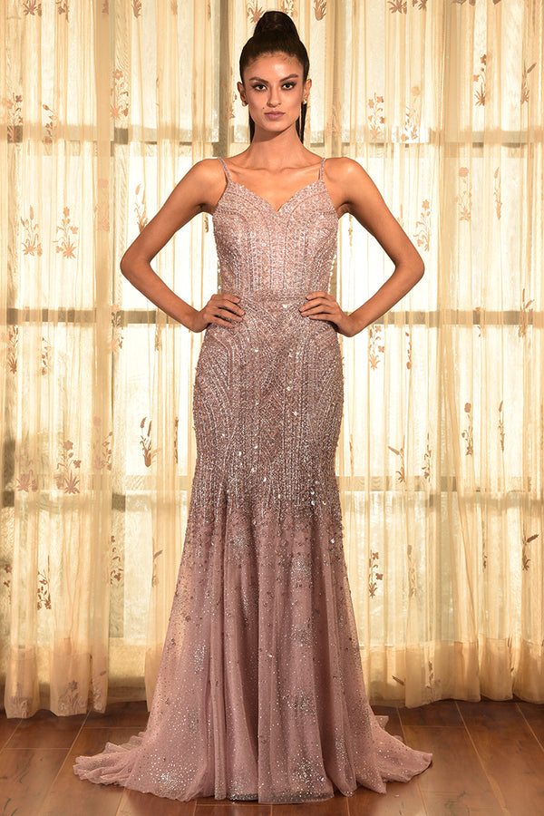 LOVE-LET SEQUINS GOWN