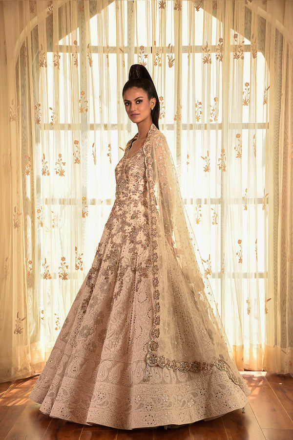 """Eleanor"" Chikankari Kalidar With Embellished Dupatta"