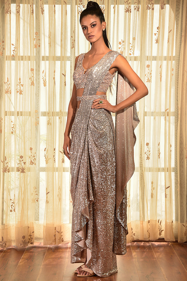 """Sweet Poetess"" Drape Saree Gown"