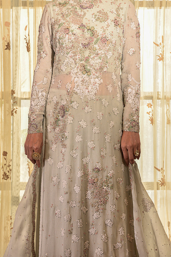 """Sweet Merino"" Chiffon Kurta Sharara Set"