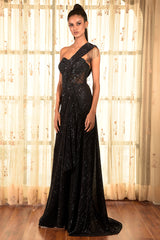 """Mere Honey"" Sequinned Gown"