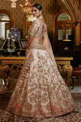 """Vardha"" Raw Silk Bridal Lehenga Set"