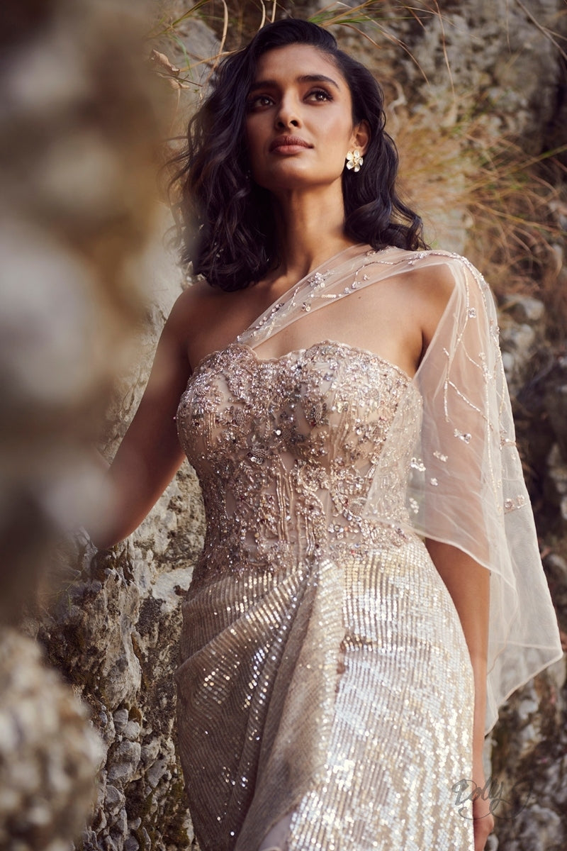 """Evelyn"" Sequins Gown"