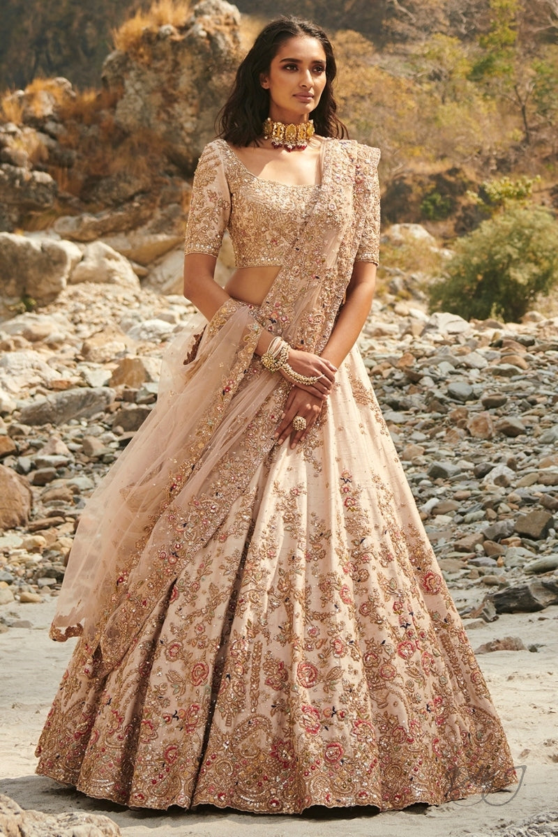 """Savannah"" Silk Lehenga Set"