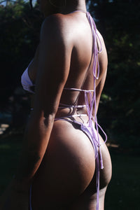 Lavender Scrunch Swim set