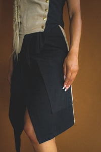 Two-toned Wrap Skirt