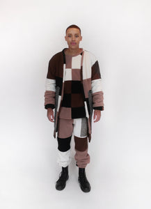 Anamorphic Patchwork Throw Coat