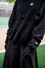 Load image into Gallery viewer, Black Drop Waist Hoodie
