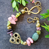 Pink and Green AKA Gemstone Bracelet
