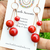 Dangling Red Coral Earrings