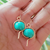 Moroccan Clay Beaded Earrings with Copper