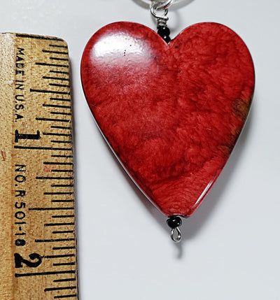 Heart Pendant on Leather Cord Necklace