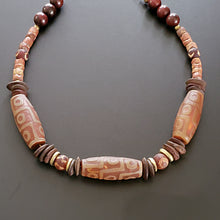 Load image into Gallery viewer, Men's Brown Stone Afrocentric Necklace