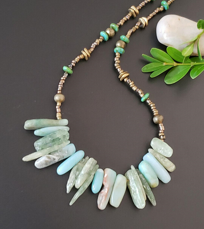 Gemstone Nuggets Choker Necklace