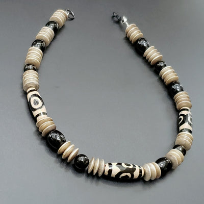 Men's Gemstone Tribal Beaded Neckkace