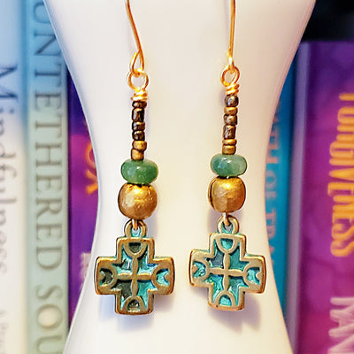 Greek Cross Earrings