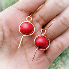 Load image into Gallery viewer, Morrocan Red Clay Earrings