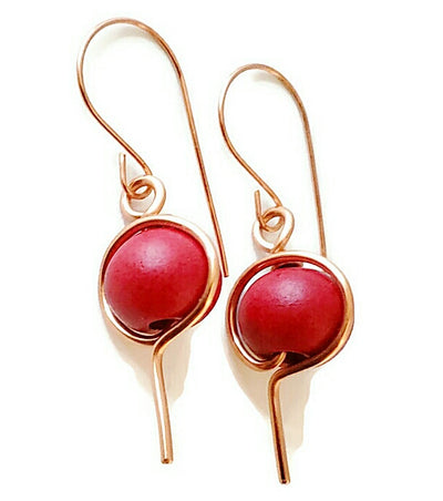 Morrocan Red Clay Earrings