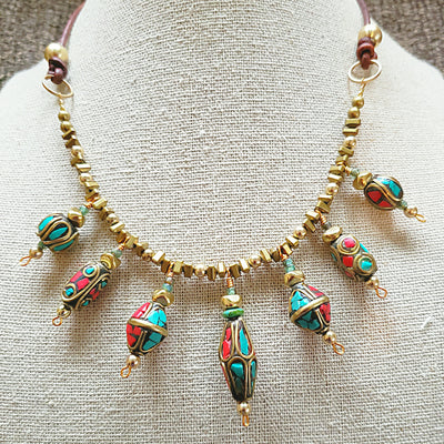 Exotic Tibetan Choker Necklace