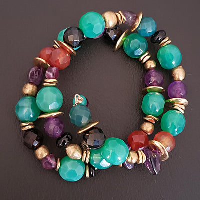 Colorful Spiral Bracelet