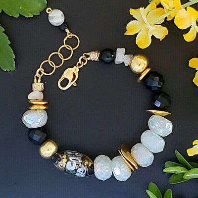 Murano and Czech Glass Bracelet