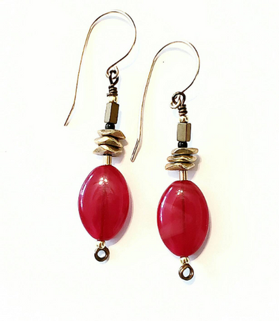 Red Onyx Earrings