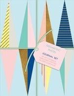 Geometric Pastel Petite Journal Set: Hundreds of Labels for Homemade Baked Goods, Jams, Jellies, Pickles, and More