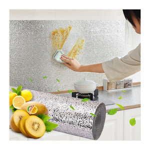 Kitchen Oil-proof Waterproof wall Stickers Aluminum Foil Kitchen Stove Cabinet Self Adhesive Wall Sticker DIY home decor