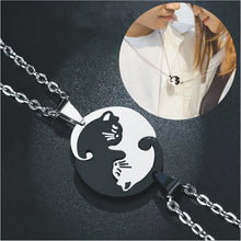 Load image into Gallery viewer, Yin Yang Cat Couple Necklace