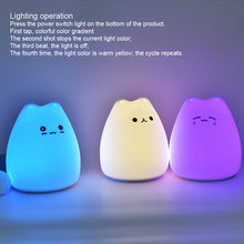 Load image into Gallery viewer, Colorful Cat LED Night Light For Children