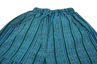 Boho Clothing | Woven Boho Shorts Size XL | Teal Green Hippie Shorts | Tribal Shorts | Unisex Shorts | Father's Day Gift