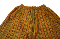 Boho Clothing | Pants Size S | Mens Hippie Pants | Womens Pants with Pockets | Orange Yellow