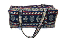 Luggage | Blue Red White Large Hippie Duffel Bag | Bohemian Duffel Bag | Tribal Gym Bag | Yoga Bag | Llama Bag